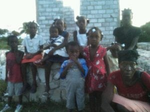 The family of 11 before the house was built.