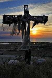 The mass grave cross.