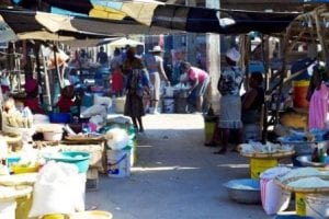 The local market in Pignon, minus all the people!