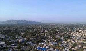 A view of Gonaives from on top of the mountain.