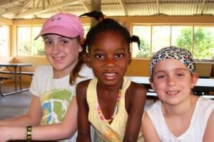 Summer (left) and Kameron (right) at the orphanage.