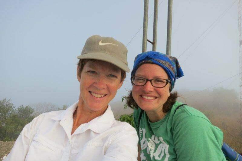 Liz and Christi on top of the mountain