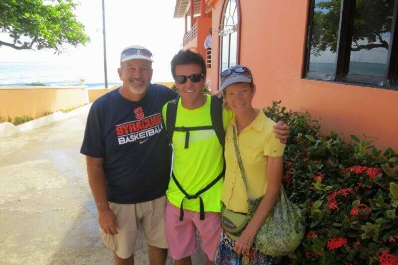 Christi and Craig, with their son Micheal, who visited over spring break.