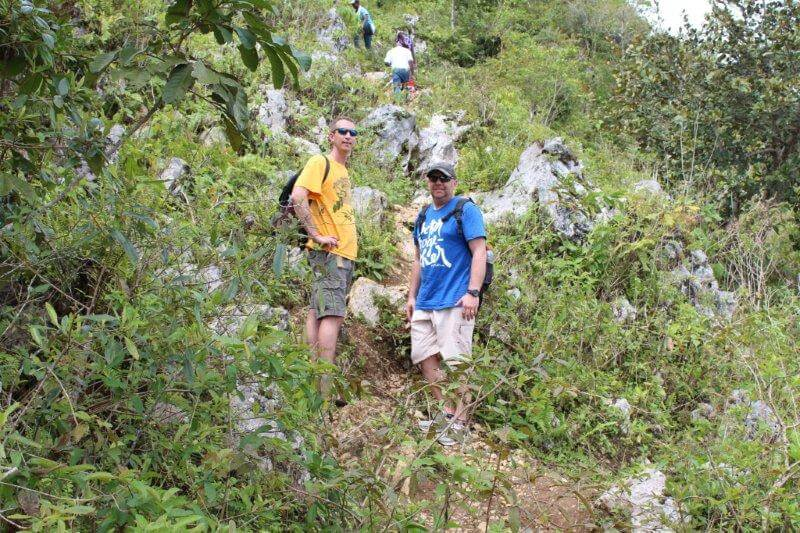 Dave and Jay taking the wout koupe to the Citadel  -short cut-