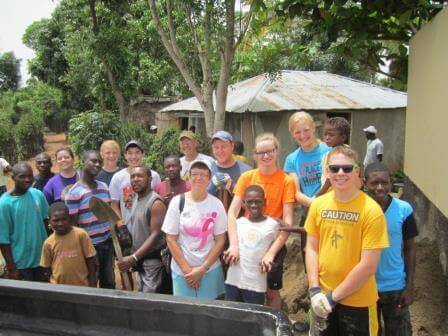 The Haitian and American concrete crew!