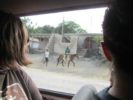 A view from the van on the ride from Port-au-Prince to Pignon.