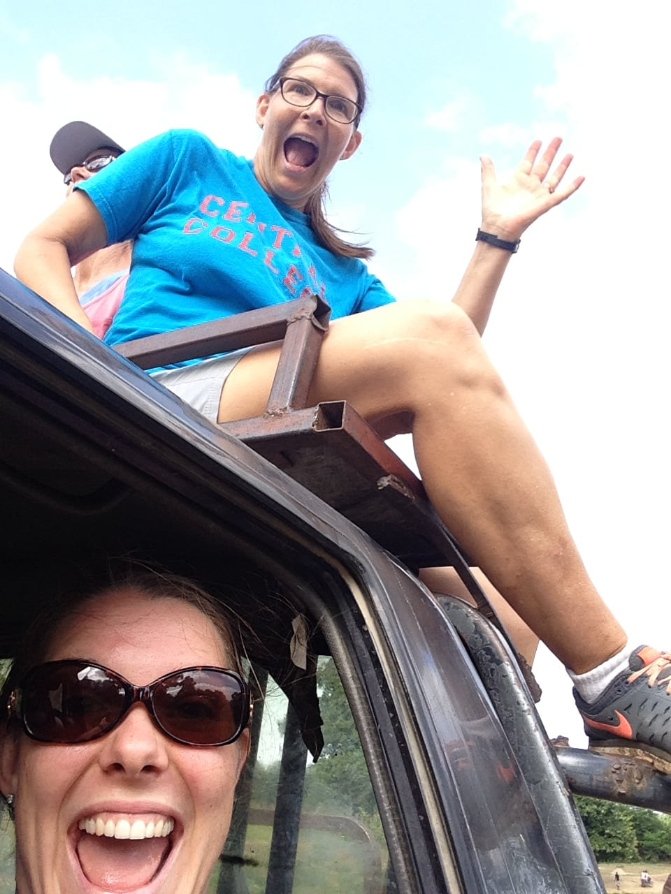 "Yes, riding on top of the ""tap tap"" truck was a new adventure!"