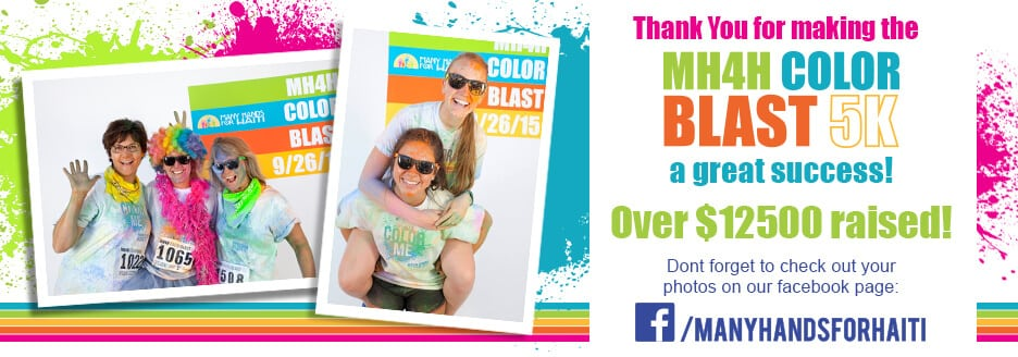 Thank You for Making the MH4H Color Blast 5K such a success!