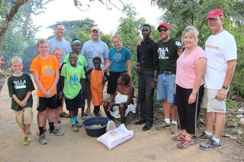 The Pella Trip team delivering food in the community