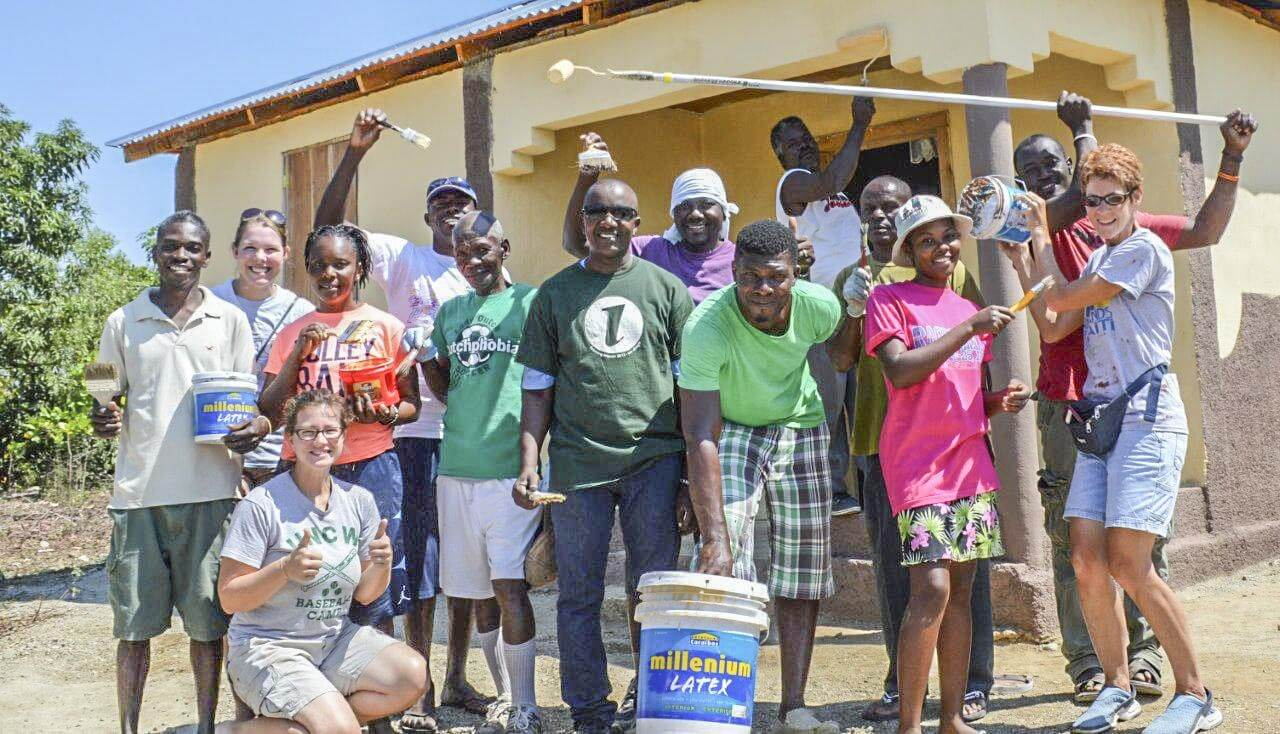 UNITY!! and a painted house is what we have to show for the effort.  All were blessed!