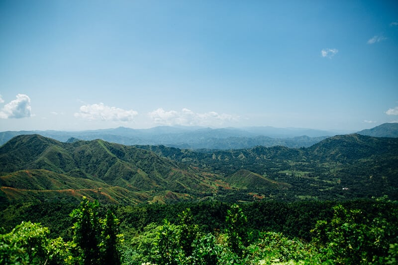 The landscape in northern Haiti