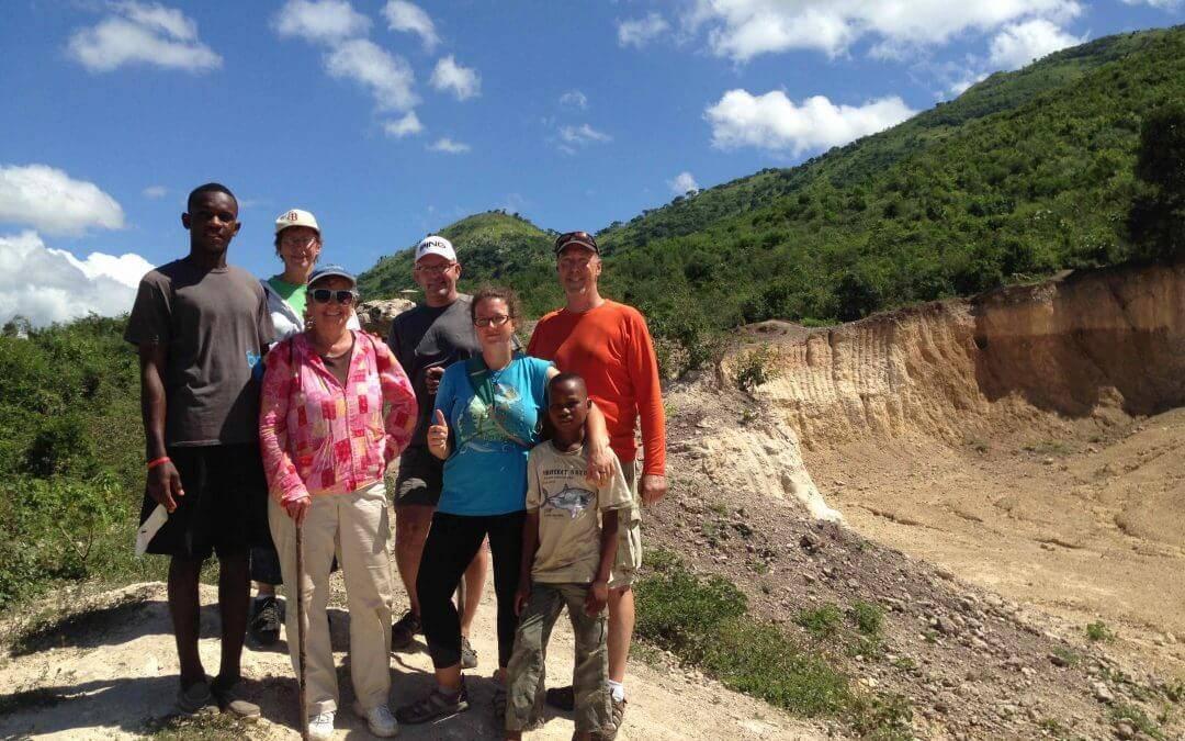 Volunteers hike