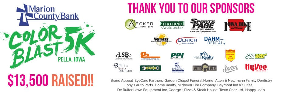 Sponsors of the Color Blast 5k